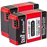 BAXXTAR PRO-ENERGY Akku für GoPro Hero3 und Hero3+ AHDBT-201 AHDBT-301 AHDBT-302 (2 Stück)