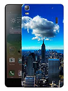 "Humor Gang New York Empire State Building Printed Designer Mobile Back Cover For ""Lenovo K3 Note - Lenovo A7000 - A7000 Plus - A7000 Turbo"" (3D, Matte, Premium Quality Snap On Case)"