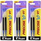 Pilot Precise V7 RT Liquid Ink Retractable Rollerball Pen Refills, 0.7mm, Fine Point, Blue Ink, Pack of 6