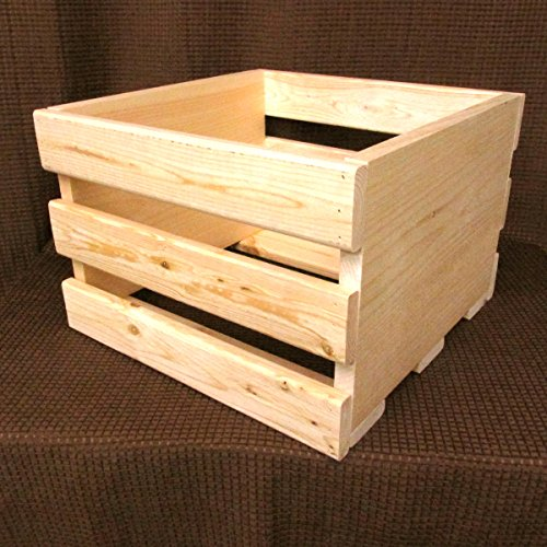 14'' CRATE Vinyl LP Record Cube Storage Box Solid Pine Wood Holds 55 Lps (Lp Record Storage Rack compare prices)