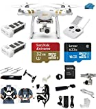 DJI-Phantom-3-Professional-Pro-Quadcopter-Drone-4K-UHD-Video-Camera-EVERYTHING-YOU-NEED-Kit-2-Total-DJI-Batteries-32GB-Micro-SDHC-Card-Reader-Carry-System-wHarness
