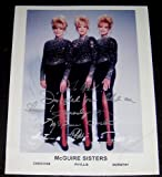 1950s Singing Group the McGuire Sisters Autographed Photograph (Music Memorabilia)