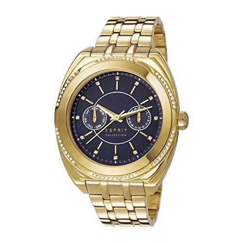 Esprit  CLYMENE - Reloj de cuarzo para mujer, con correa de acero inoxidable chapado, color dorado