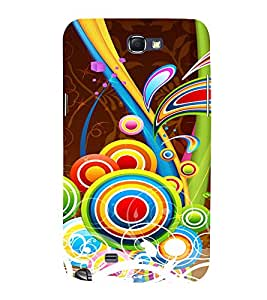 Multicolor Circular Pattern 3D Hard Polycarbonate Designer Back Case Cover for Samsung Galaxy Note 2 :: Samsung Galaxy Note 2 N7100