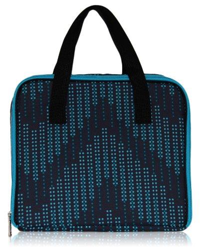 BlueAvocado Mat Case Lunch Bag, Black Dotted Chevron - 1
