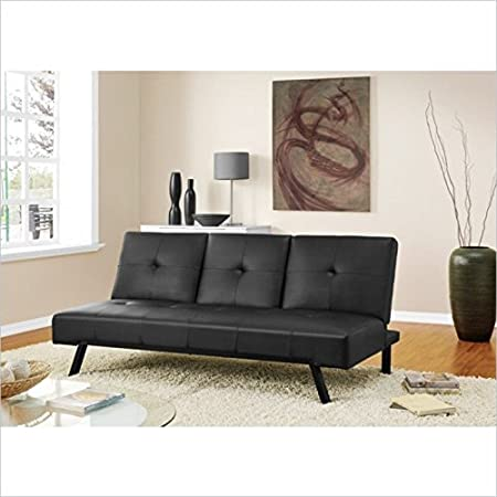 DHP Wynn Convertible Sofa in Black