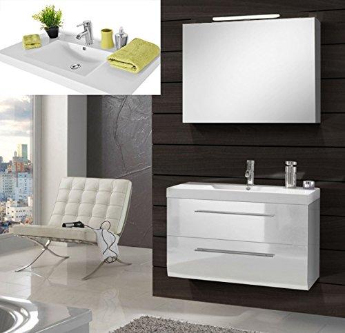 SAM-Design-Badmbel-Set-Zrich-Deluxe-90-cm-in-Hochglanz-wei-2tlg-Designer-Badezimmer-mit-Softclose-Funktion-1-Waschplatz-mit-Mineralgussbecken-und-1-Spiegelschrank-Deluxe