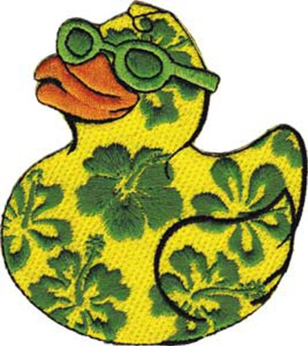 Application Hibiscus Duck Patch - 1