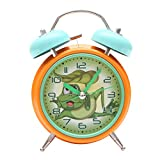 Bazaar Pirates Crazy Frog Alarm Clock, Old Age, Old Fashioned, Kids Room Table Clock (Steel) (Multi Colored)