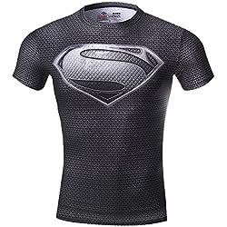 Cody Lundin hombres Sonic Compresión camisa de deportes y fitness 3d Superman camiseta, hombre, color Varios colores - Superman A, tamaño mediano