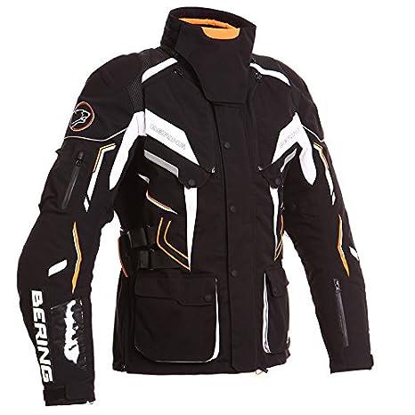 Bering - Blouson moto - Bering KOMODO Noir/Blanc/Orange