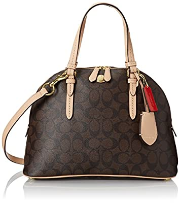 Coach Peyton Signature Domed Cora Satchel 26184, Medium