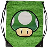 NINTENDO SUPER MARIO BROS 1UP Mushroom Gym Bag Green