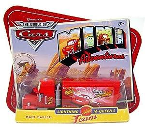 Disney CARS Mini Adventures Lightning McQueen's Team Mack Hauler