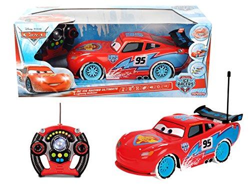 Majorette 213089594 - Cars RC Saetta MC Queen Ice Radiocomandato, Scala 1:12, 34 cm
