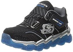 Skechers Kids Boys Skech Air TD Athletic Sneaker (Toddler), Black/Royal, 7 M US Toddler