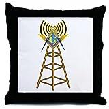 Masonic Ham Tower Throw Pillow