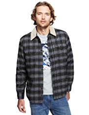 North Coast Pure Cotton Checked Shacket