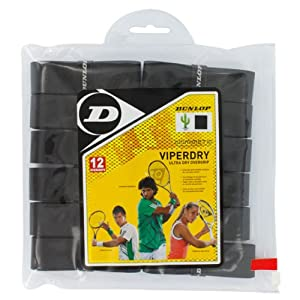 Buy Dunlop Sports Viperdry Overgrip 12 Grip Pack (Black) by Dunlop Sports