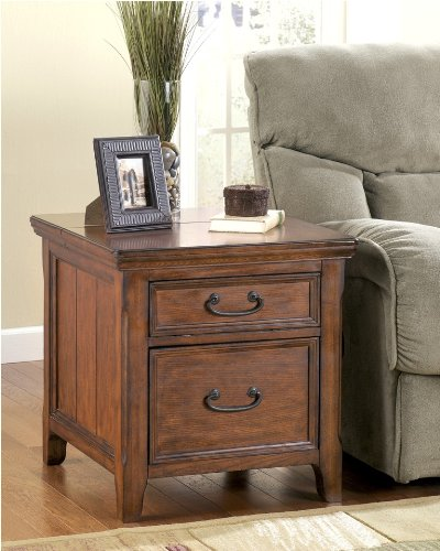 "Cheap DarkBrown Rectangular End Table w/Work Center – Design by ""Famous Brand"" Furniture (T478-17)"