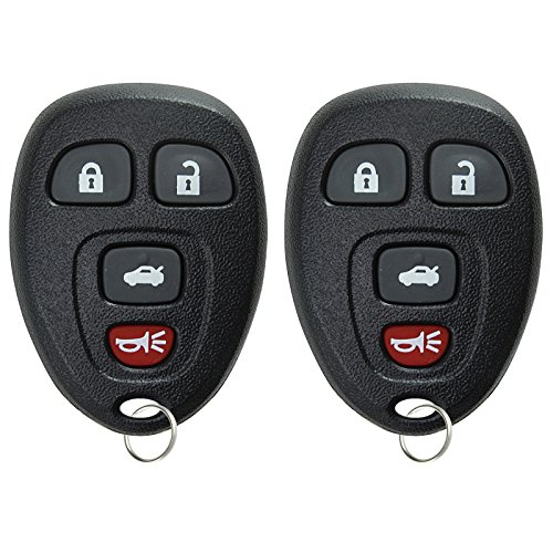 KeylessOption Keyless Entry Remote Control Car Key Fob Replacement for 15252034 (Pack of 2) (2008 Pontiac G6 Remote Key Fob compare prices)