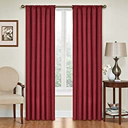 Eclipse Kendall Blackout Thermal Curtain Panel,Ruby,84-Inch