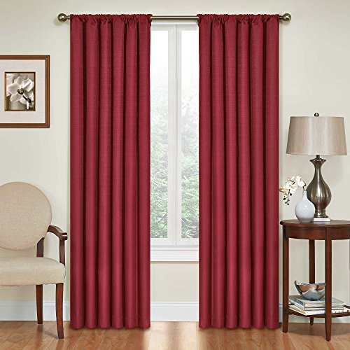 Eclipse Kendall Blackout Thermal Curtain Panel,Ruby,84-Inch (Energy Saving Curtains compare prices)