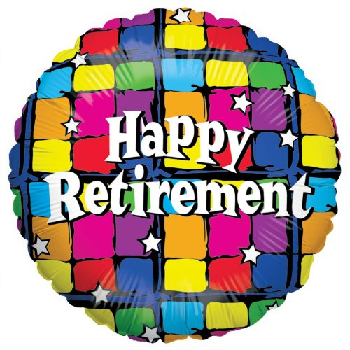 Betallic Happy Retirement Foil Package Balloon, 18""