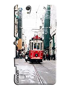 Omnam Tram On Raoad Printed Designer Back Cover Case For Sony Xperia C4