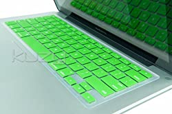 Kuzy - GREEN Keyboard Silicone Cover Skin for Macbook / Macbook Pro 13