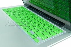 Kuzy - GREEN Keyboard Silicone Cover Skin for Macbook / Macbook Pro 13