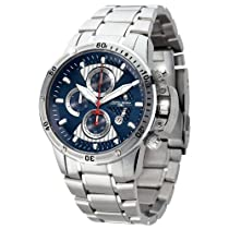 Jorg Gray JG8500-22 Round Watch with Solid Stainless Steel Bracelet with Safety Clasp