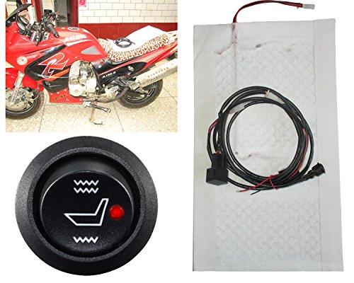 kupai motorrad 12 v karbonfaser hochtief schalter heizung pad elektrisch beheizte sitzkissen. Black Bedroom Furniture Sets. Home Design Ideas