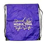 Speak Now Drawstring Bag Purple