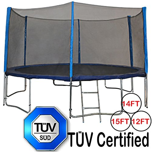 Zupapa® 15 14 12 Ft TÜV Approved Trampoline with Enclosure net and...