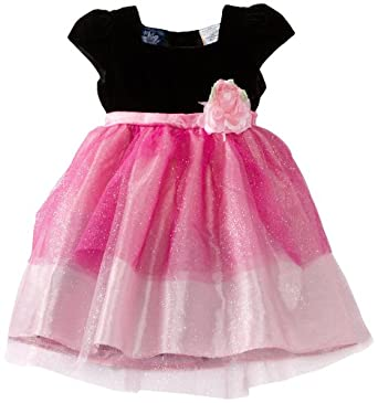 So La Vita Baby-Girls Infant Sparkle Layered Tulle Dress, Pink, 24 Months