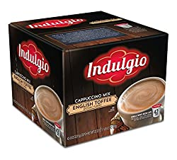 Indulgio English Toffee Cappuccino Single Serve K-cup, 42 Count (Compatible with 2.0 Keurig Brewers) from HBA Zone Inc