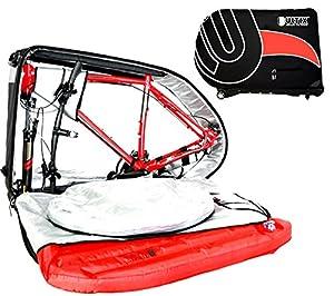 Ultix Bolsa de transporte para bicicleta- Sistema inflable de protección