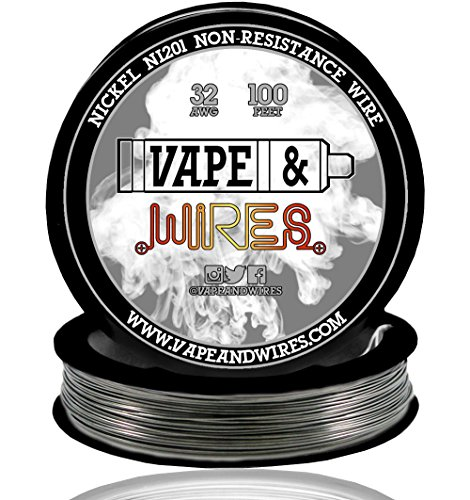 Desertcart saudi vape and wires buy vape and wires products vape wires pure nickel 201 ni201 non resistance 32 gauge awg black or white spool black 100ft greentooth Choice Image