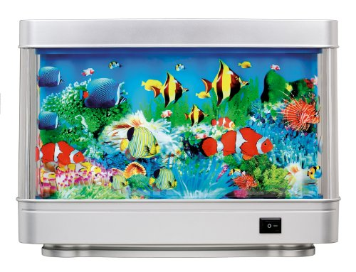 Rotating Living Sea Ocean Aquarium Picture Motion Moving Lamp Night Light AL1200 (Moving Fish compare prices)