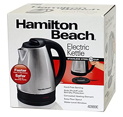 Hamilton Beach 40989E 1.7 Litre (7.2 Cup) Electric Cordless Kettle