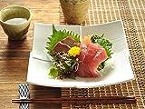 【M'home style】白い食器 高級料亭重ね正角皿 ホワイトレベル2