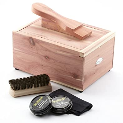 Woodlore Woodlore Cedar Shoe Care Valet with Starter Kit I, Wood