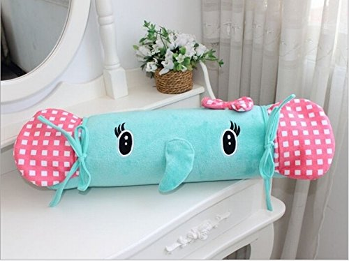 TINYPONY Soft Rug Comfortable Footcloth Rectangular Carpet Cute Cartoon Bed Side Rug Elephant Polka Dot Pattern Mat Bed Mat Children Bedroom Cushion Creative Tatami Mat Anti-ski Pad Yoga Mat Baby Cushion Parklon