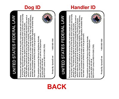 Holographic Service Dog ID and Handler ID