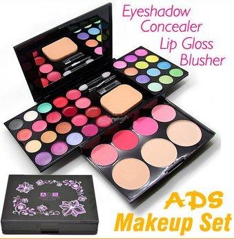 Color Make Up Palette Brush Pen Tool Makeup Set/ 24 Eyeshadow + 4 Blusher+ 3 Powder Puff + 8 Lipstick + Mirror front-496817