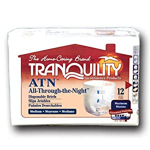Tranquility ATN (All-through-the-Night) Fitted Briefs Size Medium Pk/12 from Principle Business Enterprises