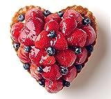 記念日ケーキ ハートのいちごとブルーベリーのタルト
