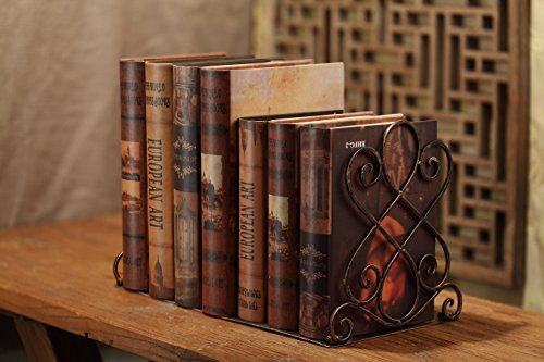 Decorative Heavy Duty Bookends - Metal Large Book Ends - Vintage Tall Books Stand