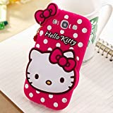 Go Crazzy Hello Kitty With Pendant Back Case For Samsung Galaxy S3 I9300 (Hot Pink)
